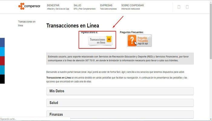 Transacciones en linea
